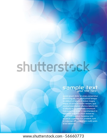 Blurry Blue Background with Circles - stock vector