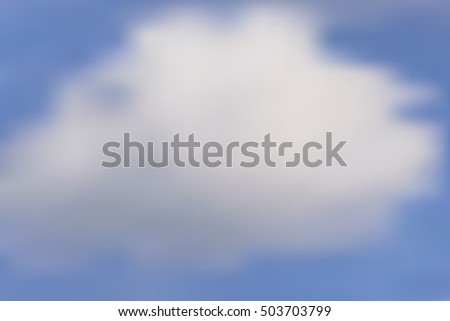 Blurry clouds illustration on blue sky background