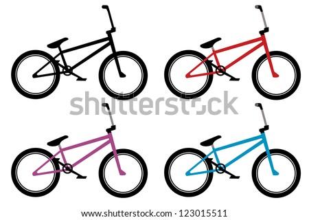 Bmx Bike Set Black Red Blue Stock Vector (Royalty Free) 123015511 ...