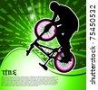BMX cyclist template vector - stock vector