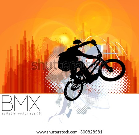 Bmx rider - stock vector