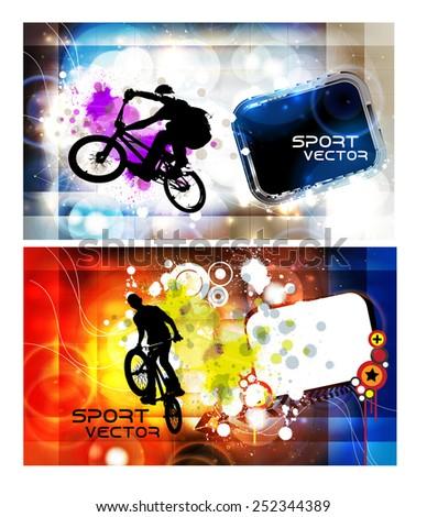 BMX sport vector illustration - stock vector
