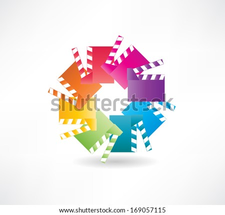 board filming icons - stock vector