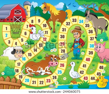 Board game theme image 6 - eps10 vector illustration. - stock vector