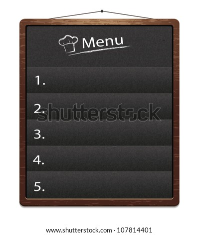 Board_menu - stock vector