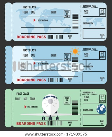 Boarding Pass (airline ticket) - stock vector