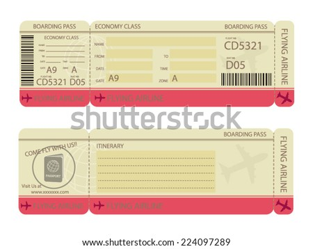 Boarding Pass Design Template - stock vector