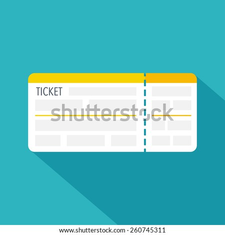 Boarding pass ticket icon. Flat design. Vector illustration - stock vector