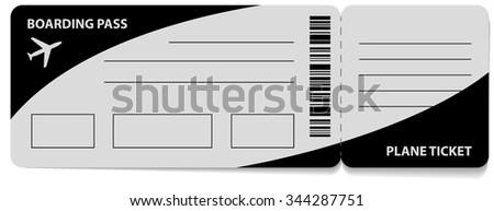 Boarding Pass vector icon. isolated on white background. illustartion - stock vector