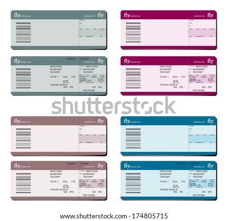 boarding passes - stock vector