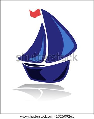 boat - stock vector