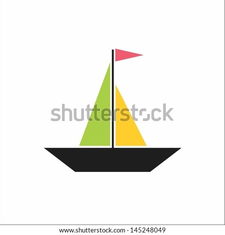 Boat - stock vector
