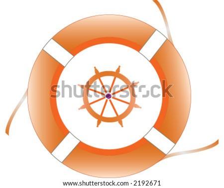 boat, help - stock vector
