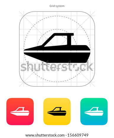 Boat icon. Vector illustration. - stock vector