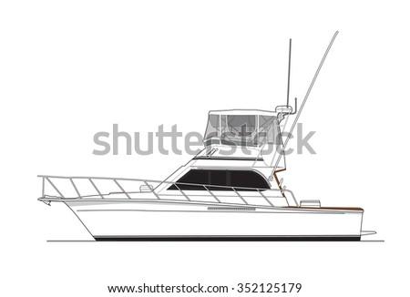 Boat Illustration  - stock vector