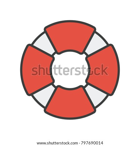 boat lifesaver vector stock vector royalty free 797690014
