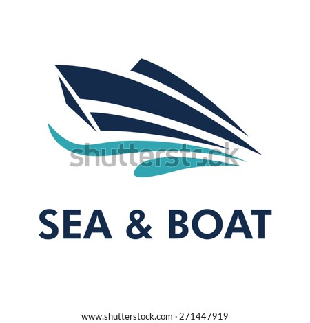 Boat Logo - Brand Identity for Boating Business - stock vector