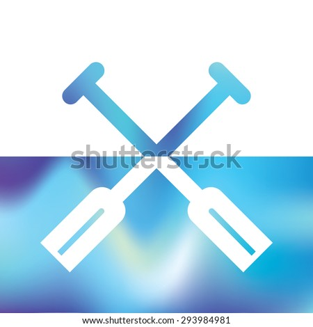 boat paddles - symbol waterman - ships equipment - stock vector