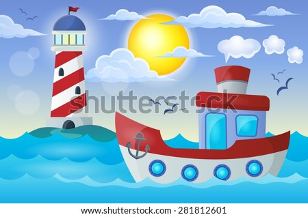 Boat theme image 2 - eps10 vector illustration.