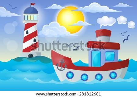 Boat theme image 2 - eps10 vector illustration. - stock vector