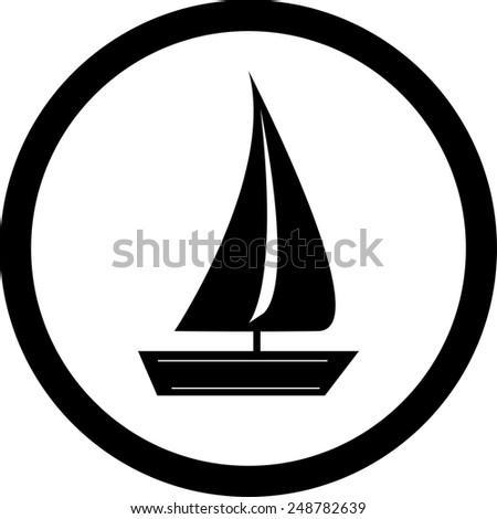 boat travel icon vector, cruise icon vector, boat cruise icon vector, sailing ship cruise icon vector,  - stock vector
