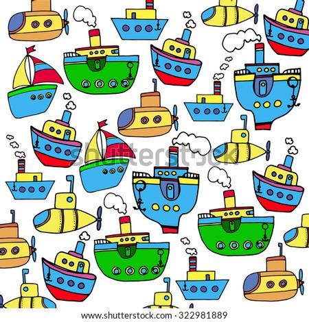 boat vector ship sea nautical illustration marine travel sailboat ocean icon transport - stock vector