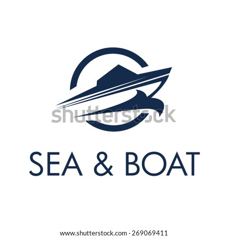 Boating Club Logo - Yacht Identity Design - stock vector