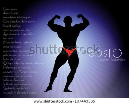 Body builder - stock vector