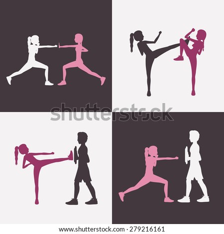 Body Combat design over white background, vector illustration - stock vector