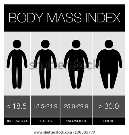 Body Mass Index Infographic Icons. Vector illustration - stock vector