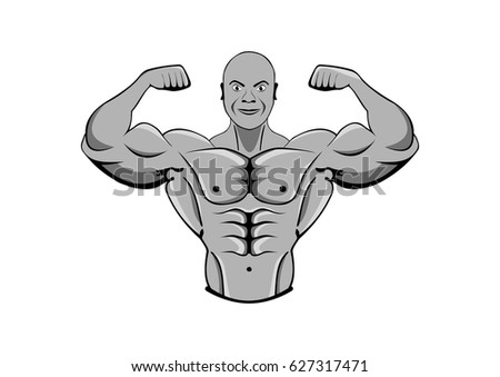bodybuilder. strong muscular man. athlete or fighter