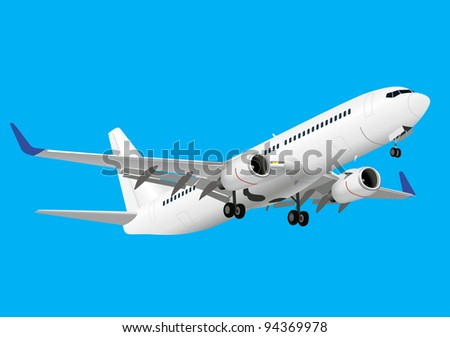 Boeing 737 detailed vector image - stock vector