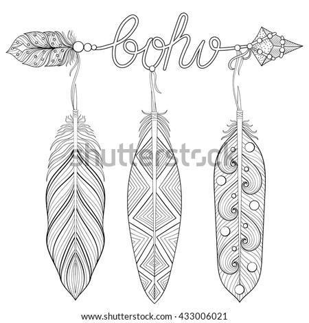 Bohemian Arrow Hand Drawn Amulet