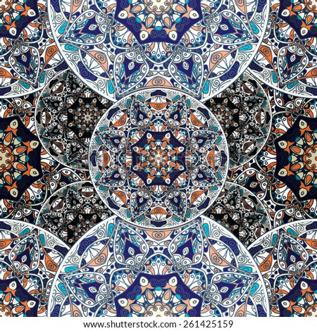 Bohemian style seamless tile. - stock vector