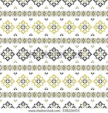 Boho Mandala Abstract Seamless Repeat Wallpaper - stock vector