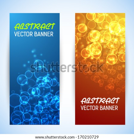 bokeh banner background vector illustration