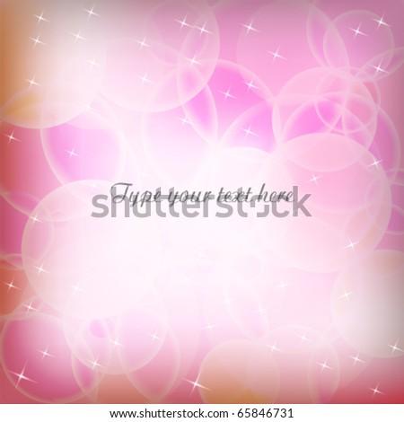 Bokeh effect background - stock vector