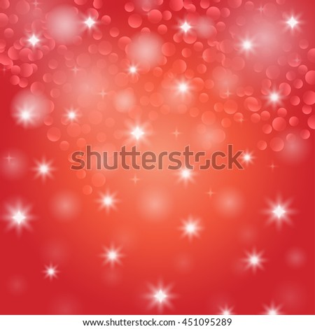 Bokeh. Holiday defocused lights. Christmas background. Shiny stars. New year wallpapers. Winter magic pattern. Vector illustration. - stock vector