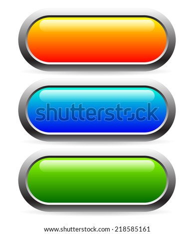 Bold, glossy button or banner backgrounds - stock vector