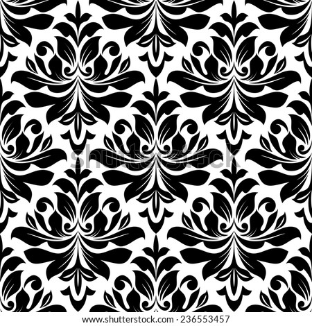 Bold seamless arabesque pattern black repeat stock vector for Arabesque style decoration