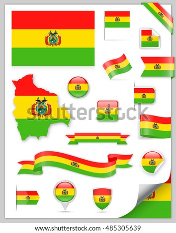 Bolivia Flag Set - Vector Collection