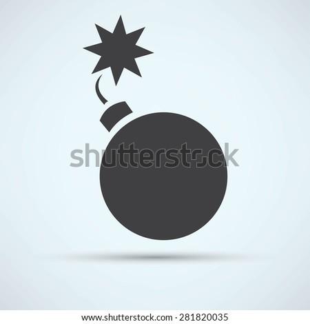 Bomb icon - stock vector