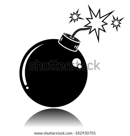 Icon Bomb Sparkles Flat Style Stock Vector 225129091 ...