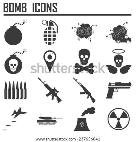 Bomb icon,weapon  - stock vector