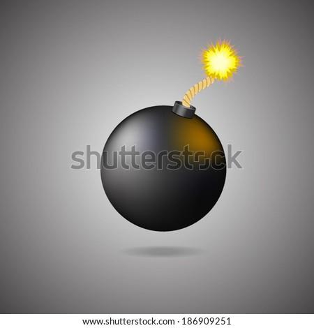 Bomb vector icon - stock vector