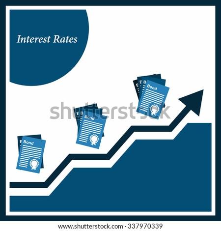 Bond Interest rates Illustration - stock vector