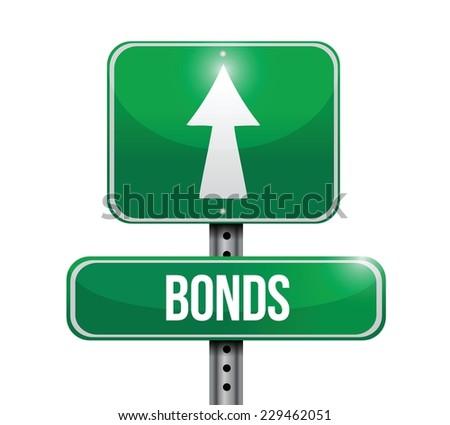bonds street sign illustration design over a white background - stock vector