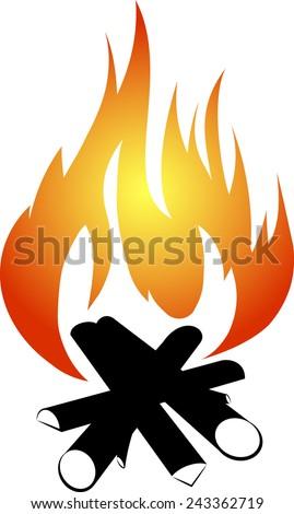 Bonfire design - stock vector