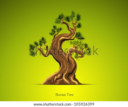 Bonsai Tree Background - stock vector