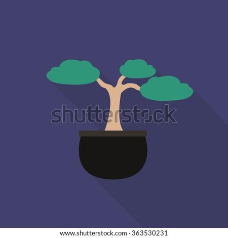 bonsai tree icon. vector illustration - stock vector